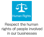 Human Rights: Respect the human rights of people involved in our businesses