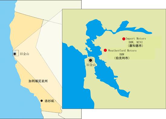 【美国加利福尼亚州地图】