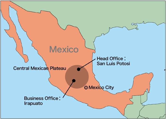 Plateau Of Mexico Map Sojitz Logistics and Maruzen Showa Establish Logistics Joint